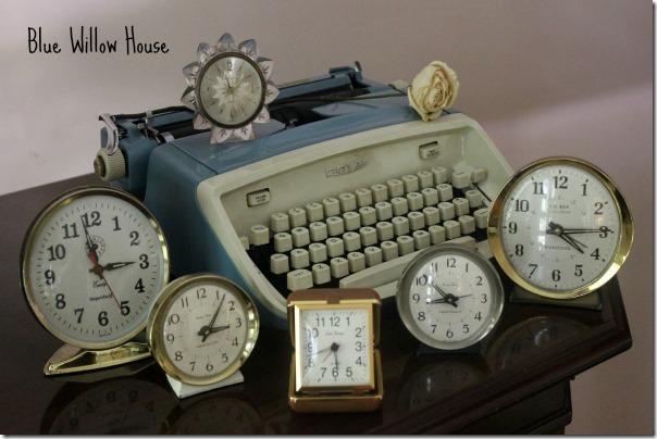 blue willow house clocks