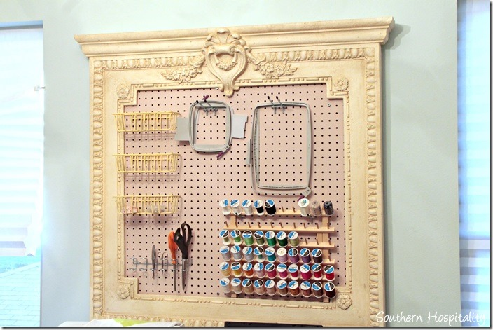 craft room organization board