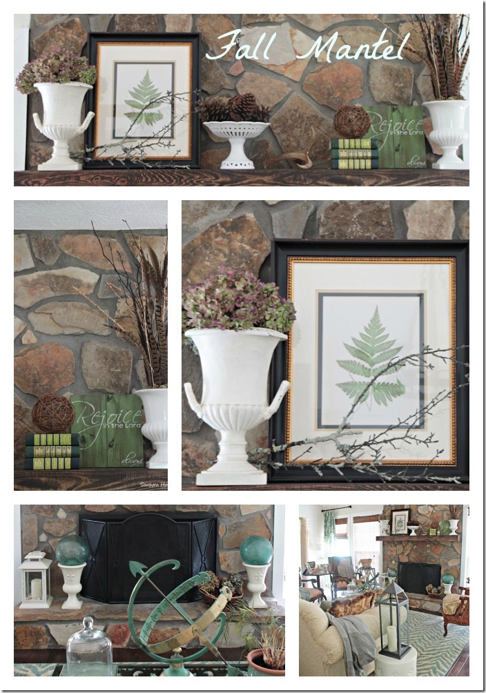 Fall Mantel collage