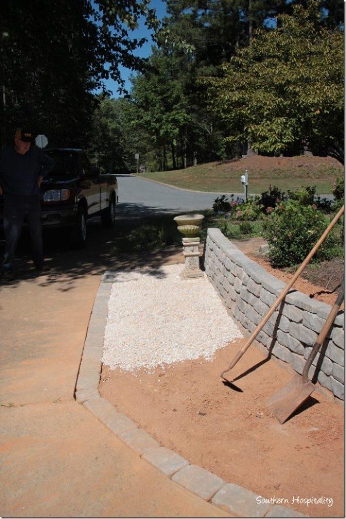 adding pea gravel