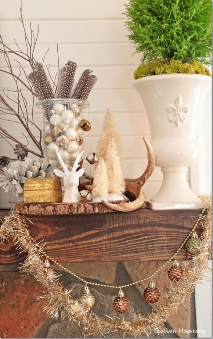 mantel with garland