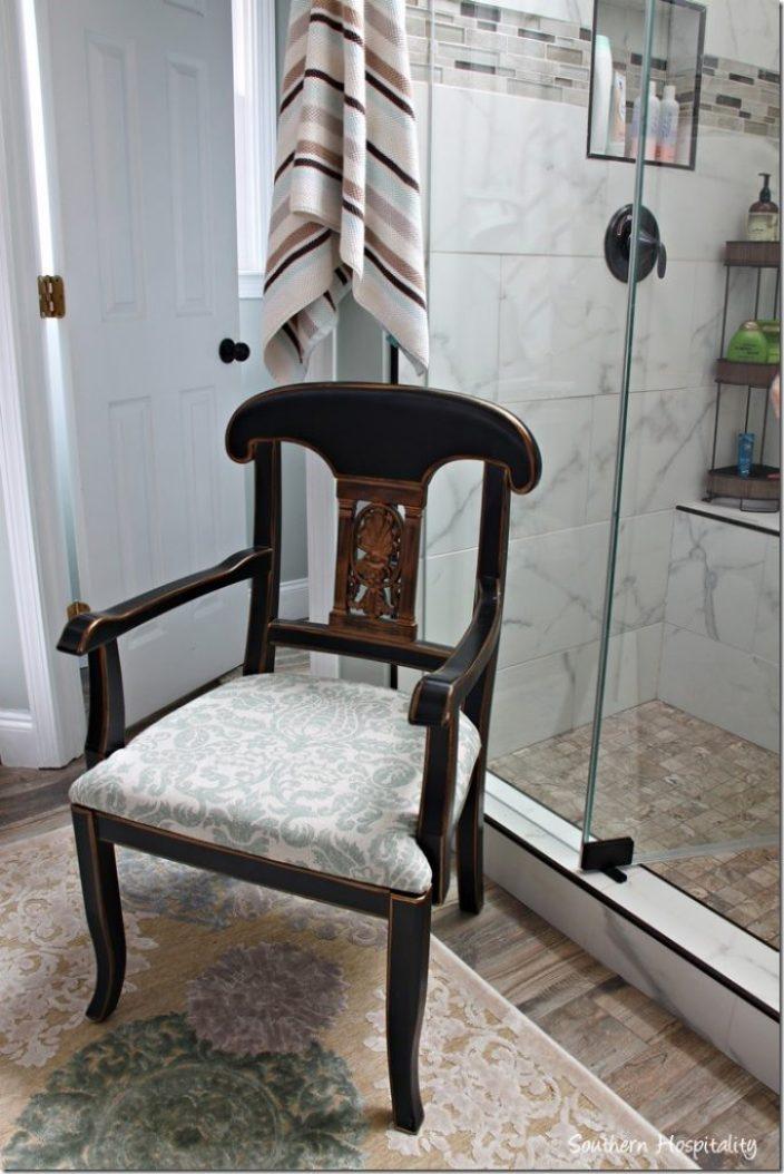 chair in bathroom