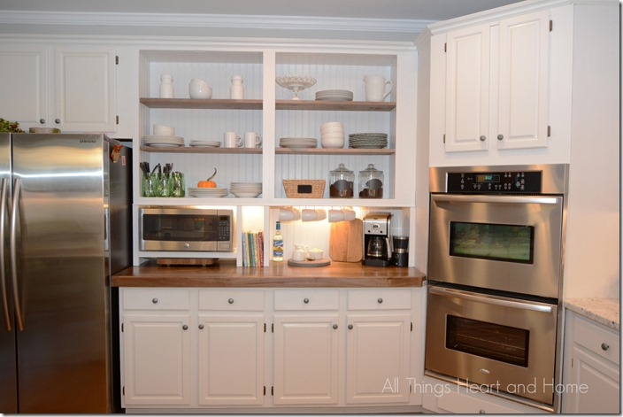 kitchen open cabinets