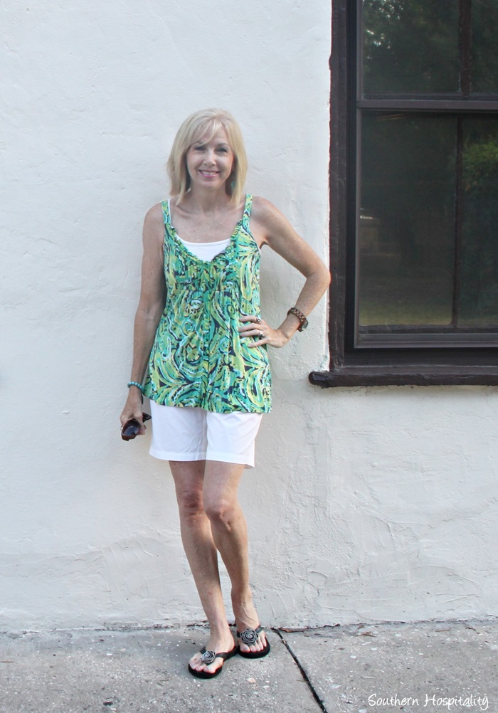 Fashion Over 50 Casual Summer Shorts Southern Hospitality