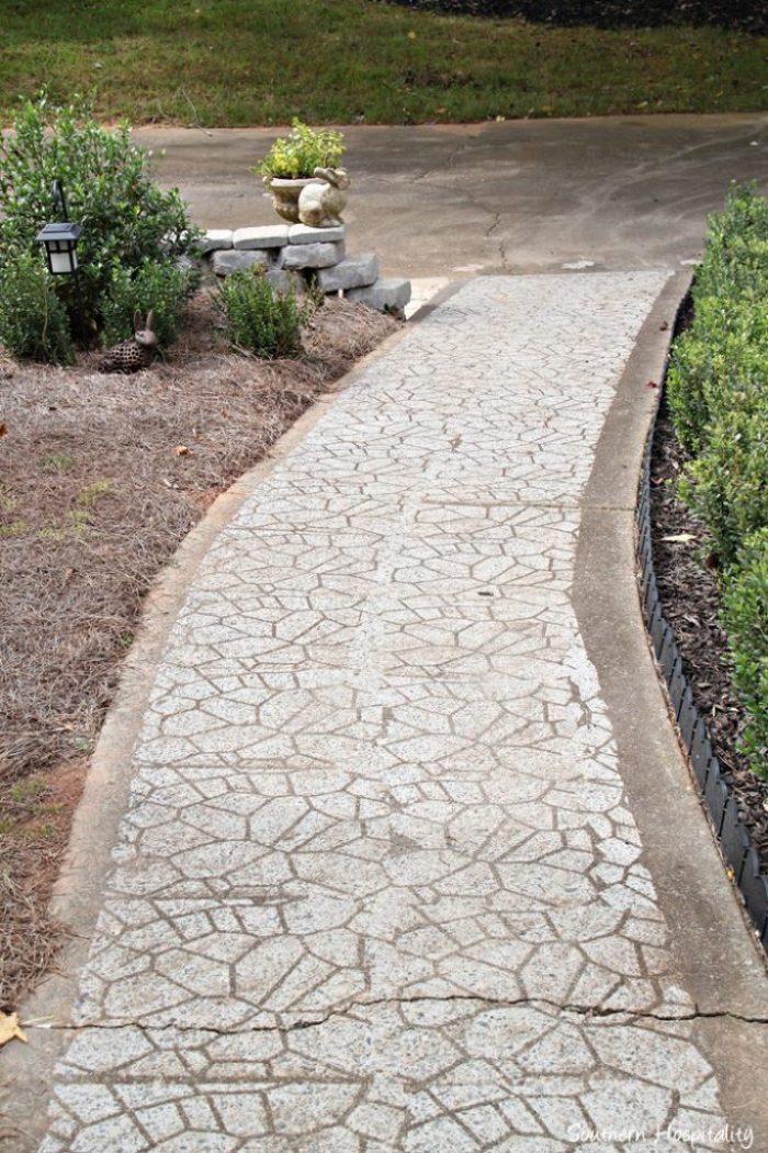 sidewalk after stencil