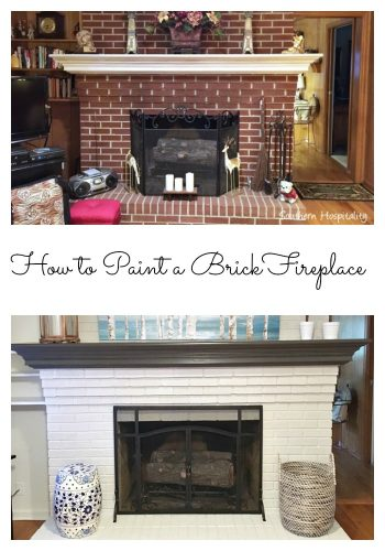 Brick Fireplace Collage