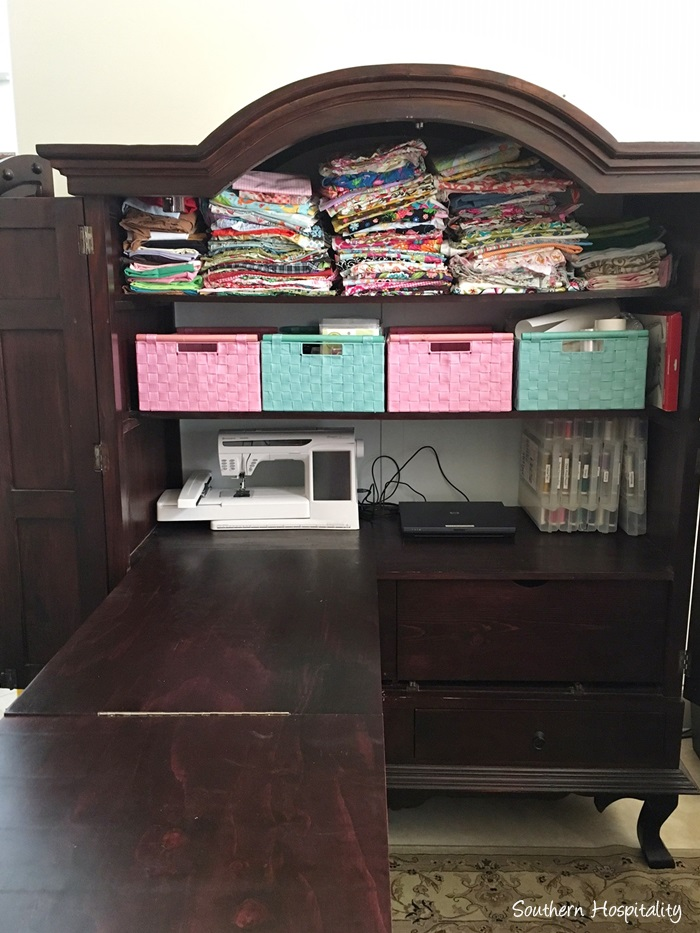 How To Make A Sewing Armoire Southern Hospitality