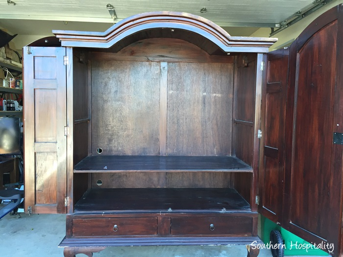 Sewing Armoire Conversion010