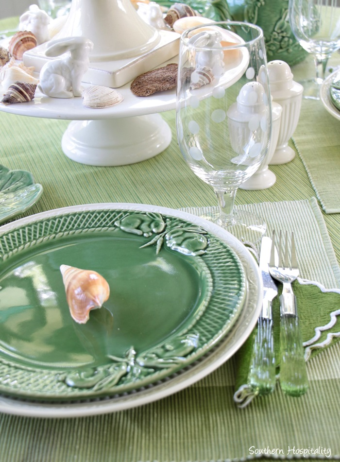 summer table green009