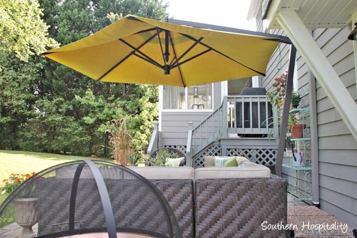 outdoor patio space with umbrella013