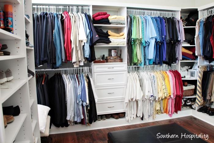 master closet arrangement
