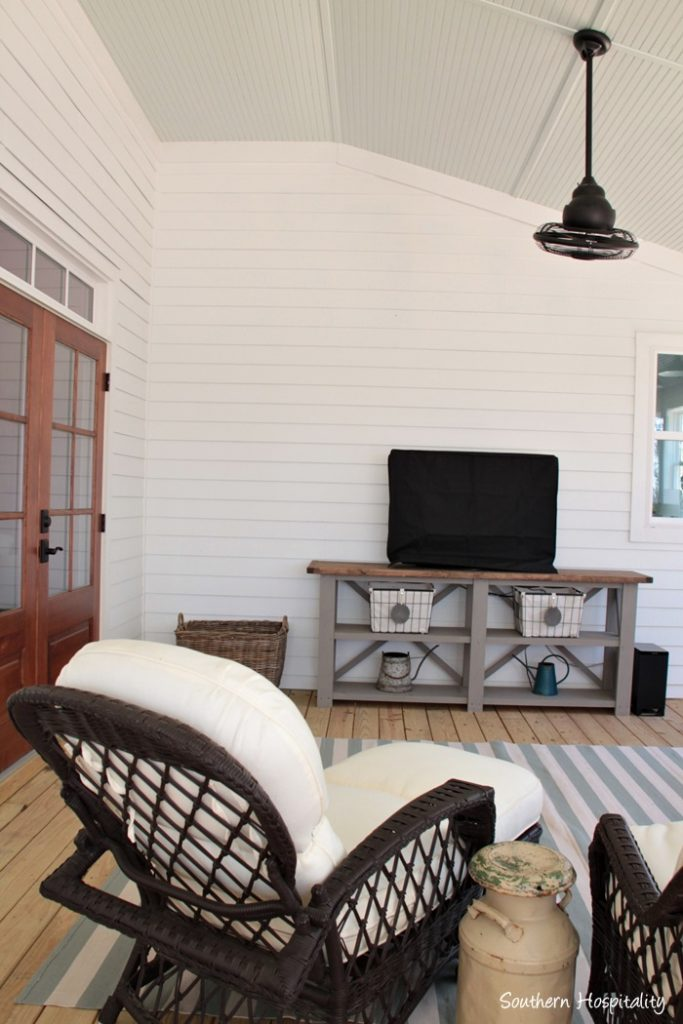 covered porch wicker chairs