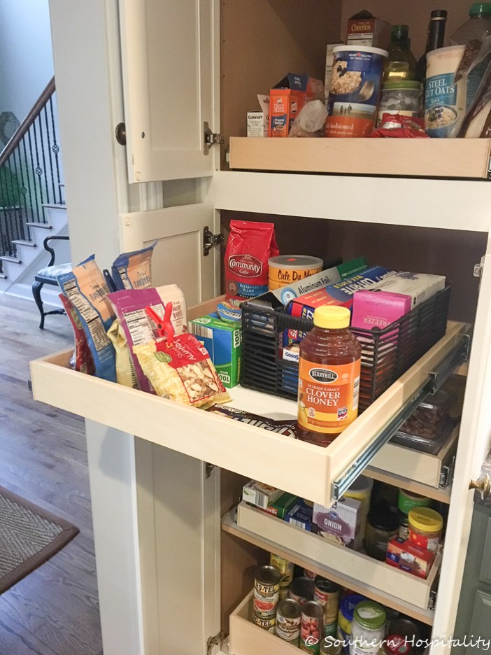 Installing Sliding Shelves In A Pantry Southern Hospitality