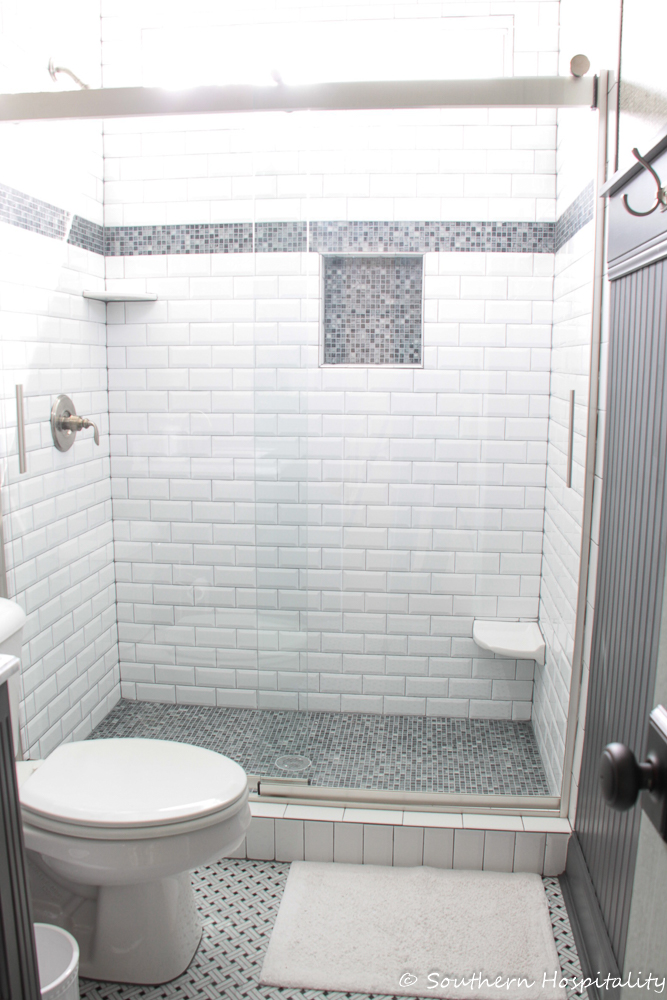 Guest Bathroom Renovation Southern Hospitality - Bathroom remodel gray and white