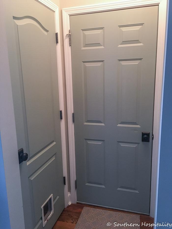 Painting Interior Doors doggie door