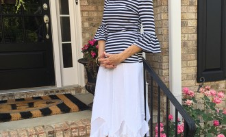 Fashion over 50:  Summer Date Night Skirt