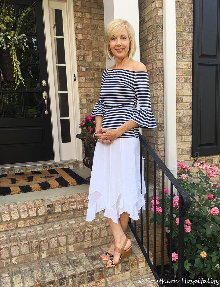 Fashion Over 50 Summer Date Night Skirt