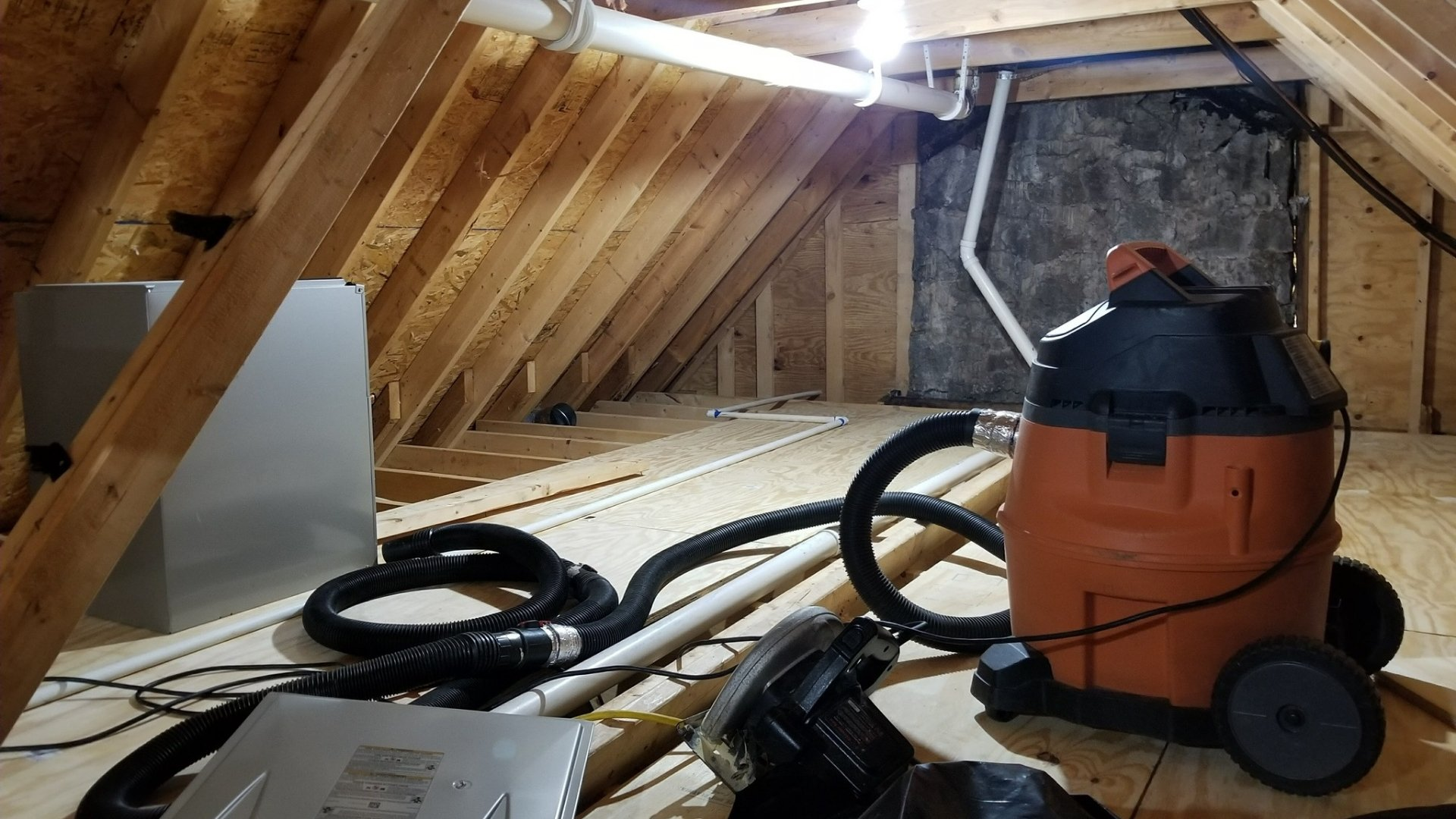Cleaning Up Attic Prior to Encapsulation