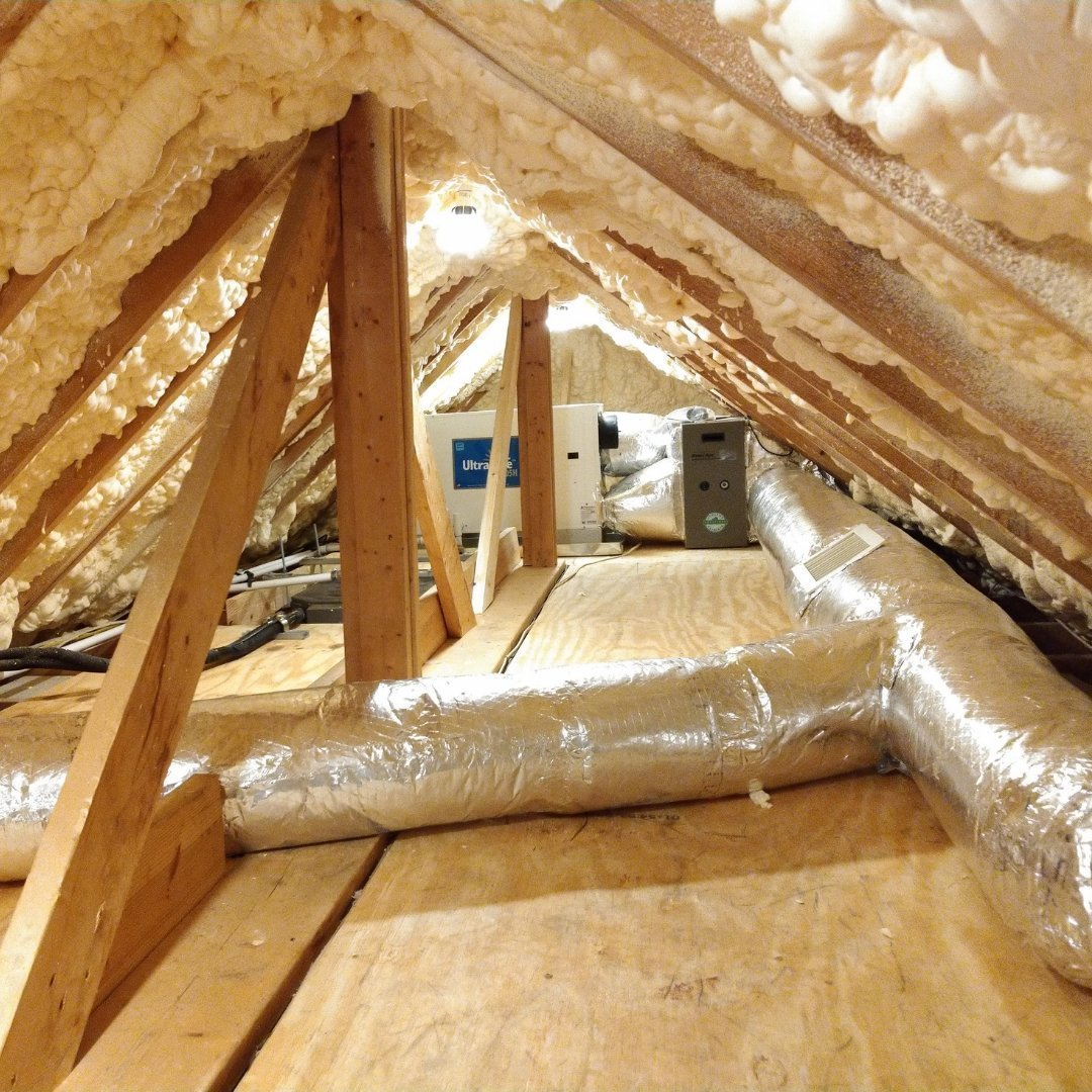 Duct Sealing During Attic Encapsulation - Gallery