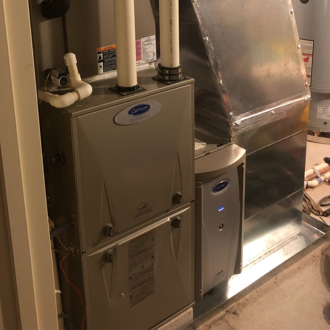 Air Purification System Installed Next to Carrier Furnace - Page Gallery