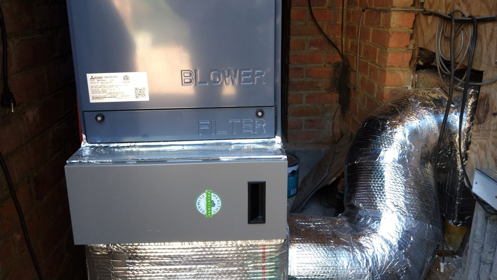 Lennox Healthy Climate Air Purification System Installed Next to Air Handler - Page Gallery