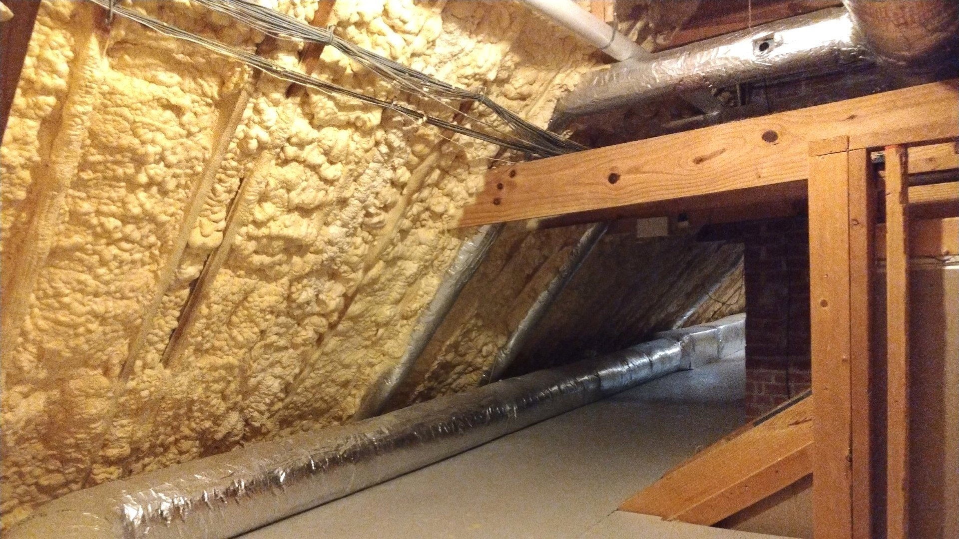 Insulated Wall with Ductwork - Attic Encapsulation Page Gallery