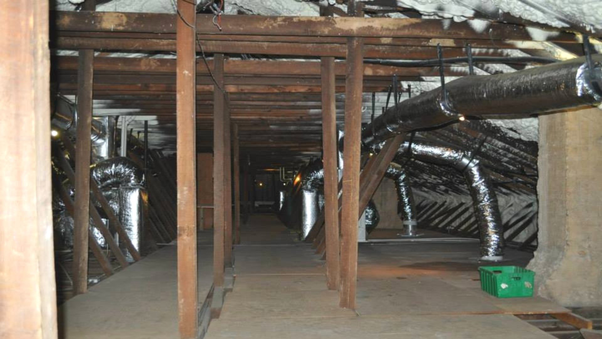Multiple HVAC Units Installed During Open Attic Encapsulation - Page Gallery