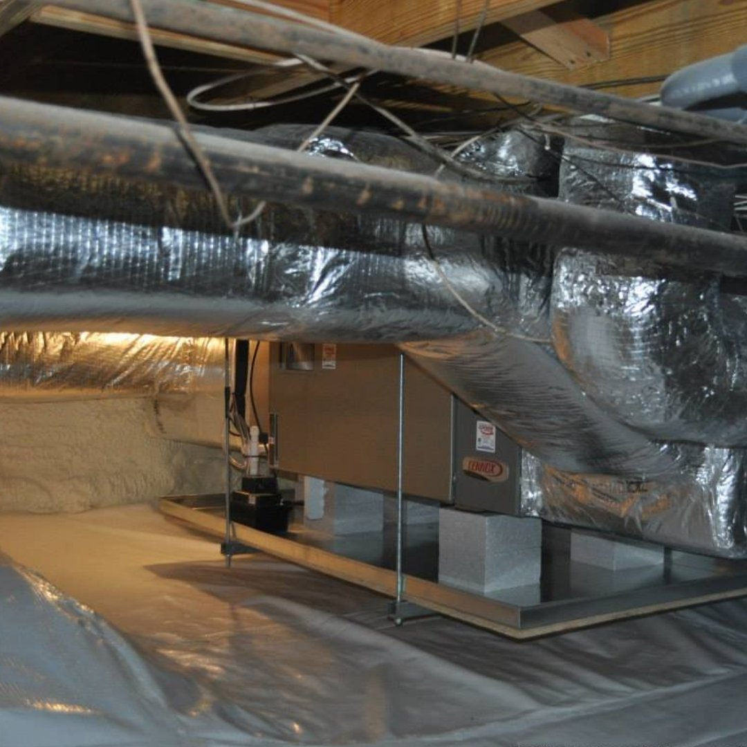 Duct Work and Furnace Install During Crawlspace Encapsulation - Page Gallery