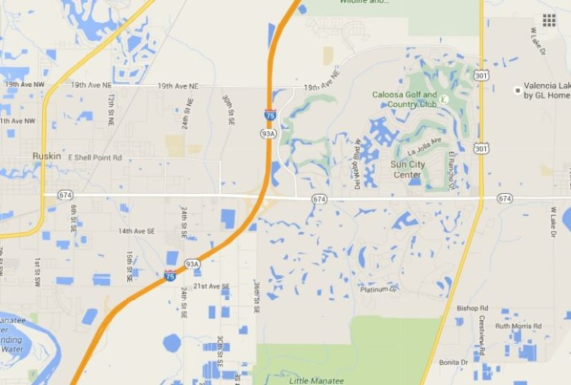 Area Map around Little Manatee River State Park