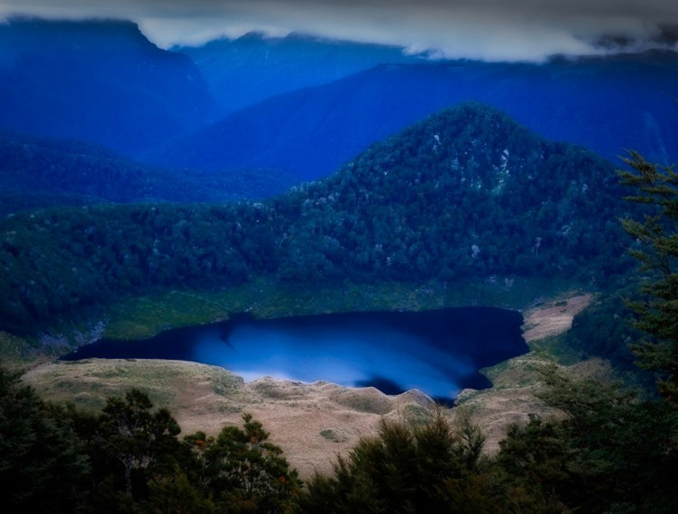 Lake above Grebe Valley, Fiordland