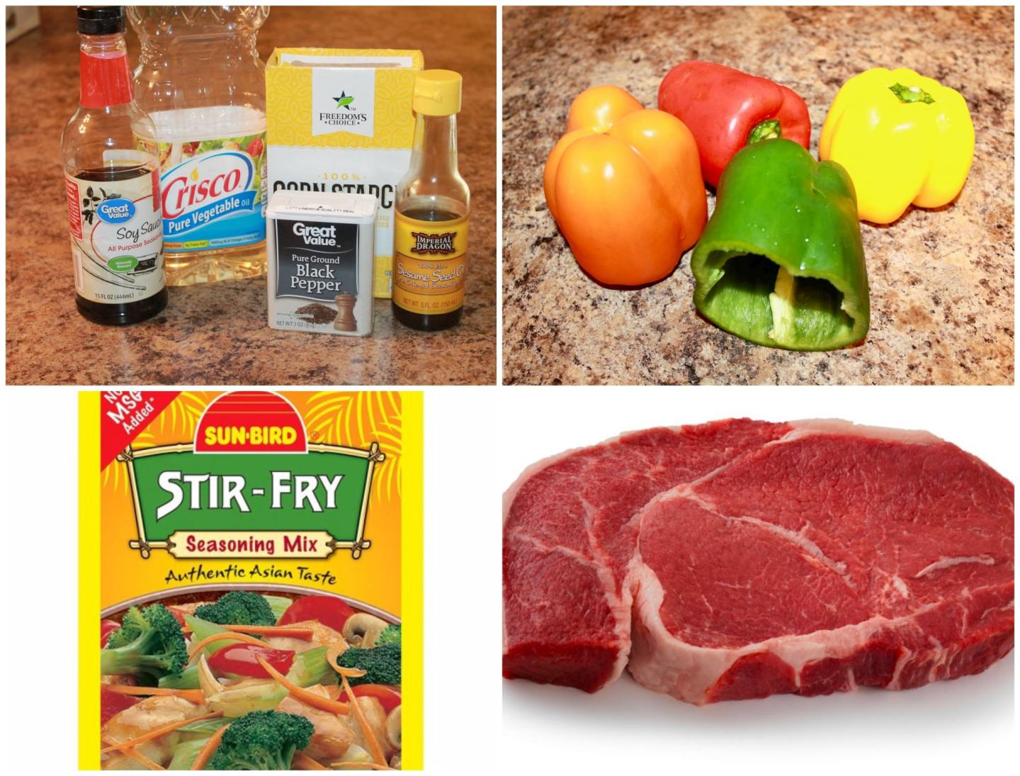 Ingredients for Pepper Steak Recipe