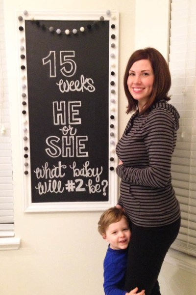 15 week pregnancy chalkboard