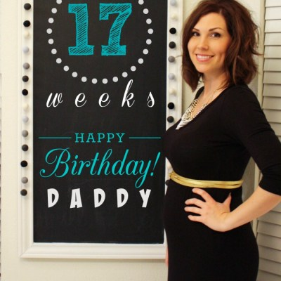 Southern Made Blog - Chalkboard Pregnancy #2 Tracker