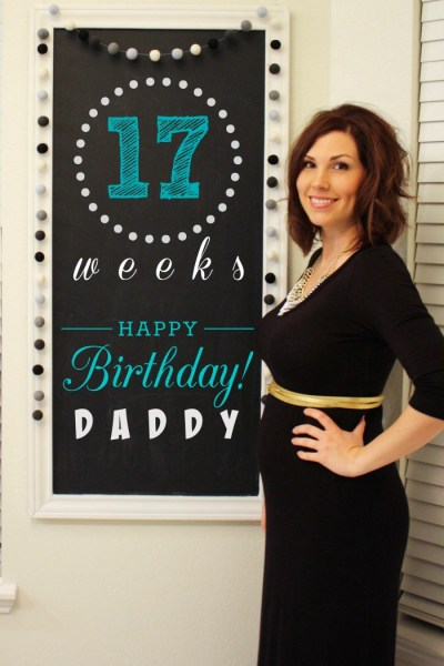 Southern Made Blog - Chalkboard Pregnancy #2 Tracker