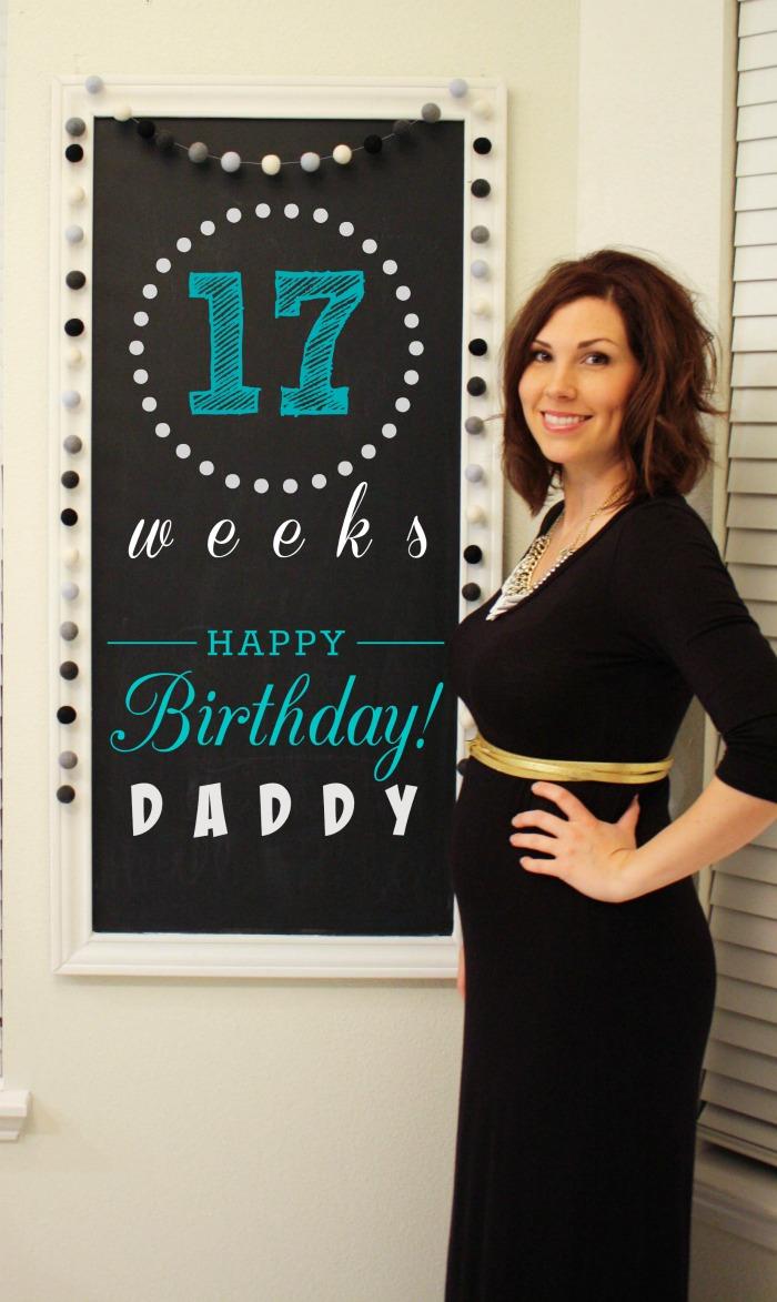 Southern Made Blog- 17 weeks Pregnancy Chalkboard Tracker