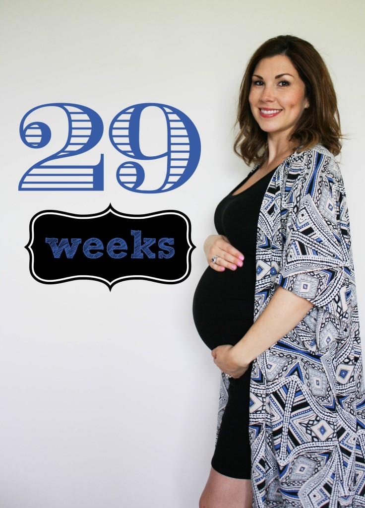Southern Made Blog- 29 weeks Pregnancy Chalkboard Tracker