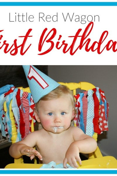 Rohen's Little Red Wagon First Birthday Party | Southern Made Blog | I loved this fun Little Red Wagon first birthday party for Rohen! The red, white, and blue was perfect for his July birthday celebration.