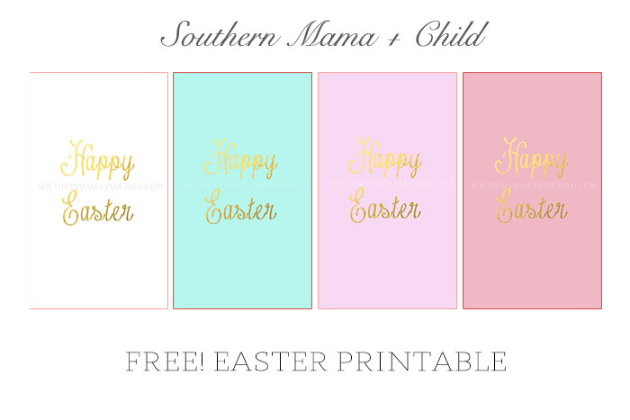 Free-Happy-Easter-Gold-Foil-Printable-Collage