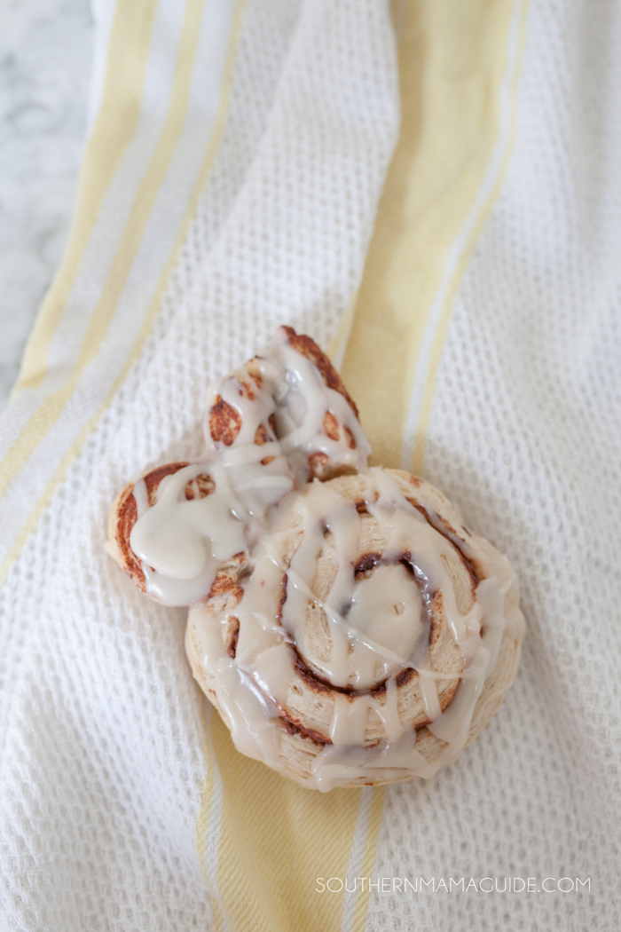 Cinnamon Roll Bunnies by Brittany at SouthernMamaGuide.com || Cinnamon Rolls || Easter Bunny || Easter Breakfast || Bunny Rabbit Cinnamon Rolls || Bunny Ears || Easter Bunny || Festive Easter Breakfast