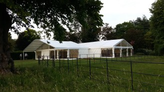 Our multispan marquees can be attached to make separate zones.