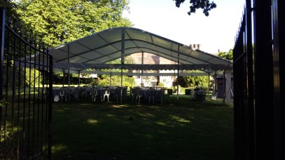 We provided a simple un-lined marquee for a wedding in a garden in Titchfield.