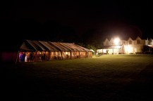 The Hollybank House wedding marquee looking beautiful as the marquee takes its turn in providing the illumination ...
