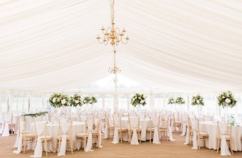 Who would have thought that outside this elegant wedding marquee, there were the strongest winds of the year ...
