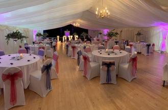 Stunning transformation of a village hall for a wedding