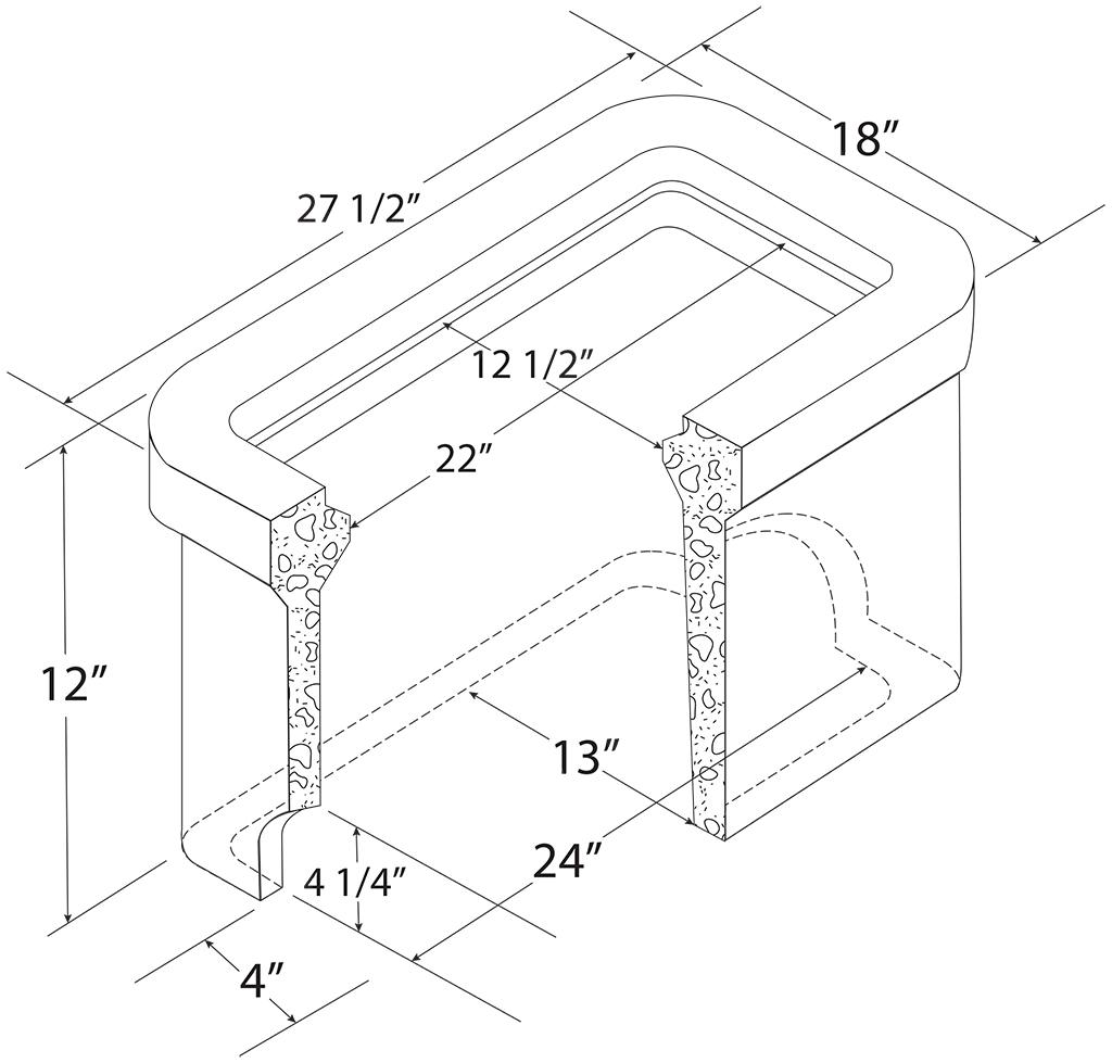 C H 1 1 2 Concrete Meter Box