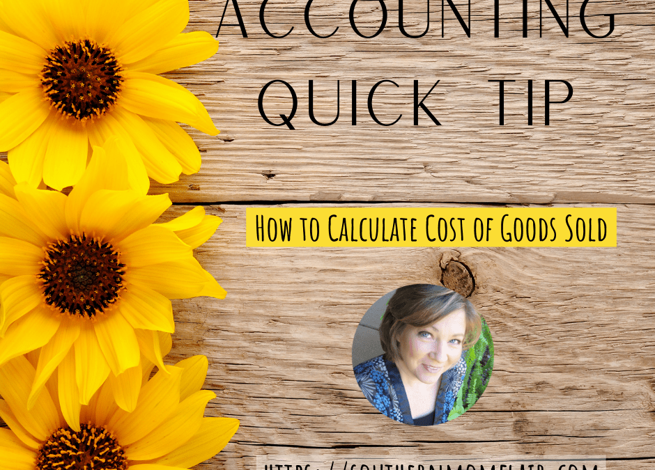 Accounting Quick Tip – COGS