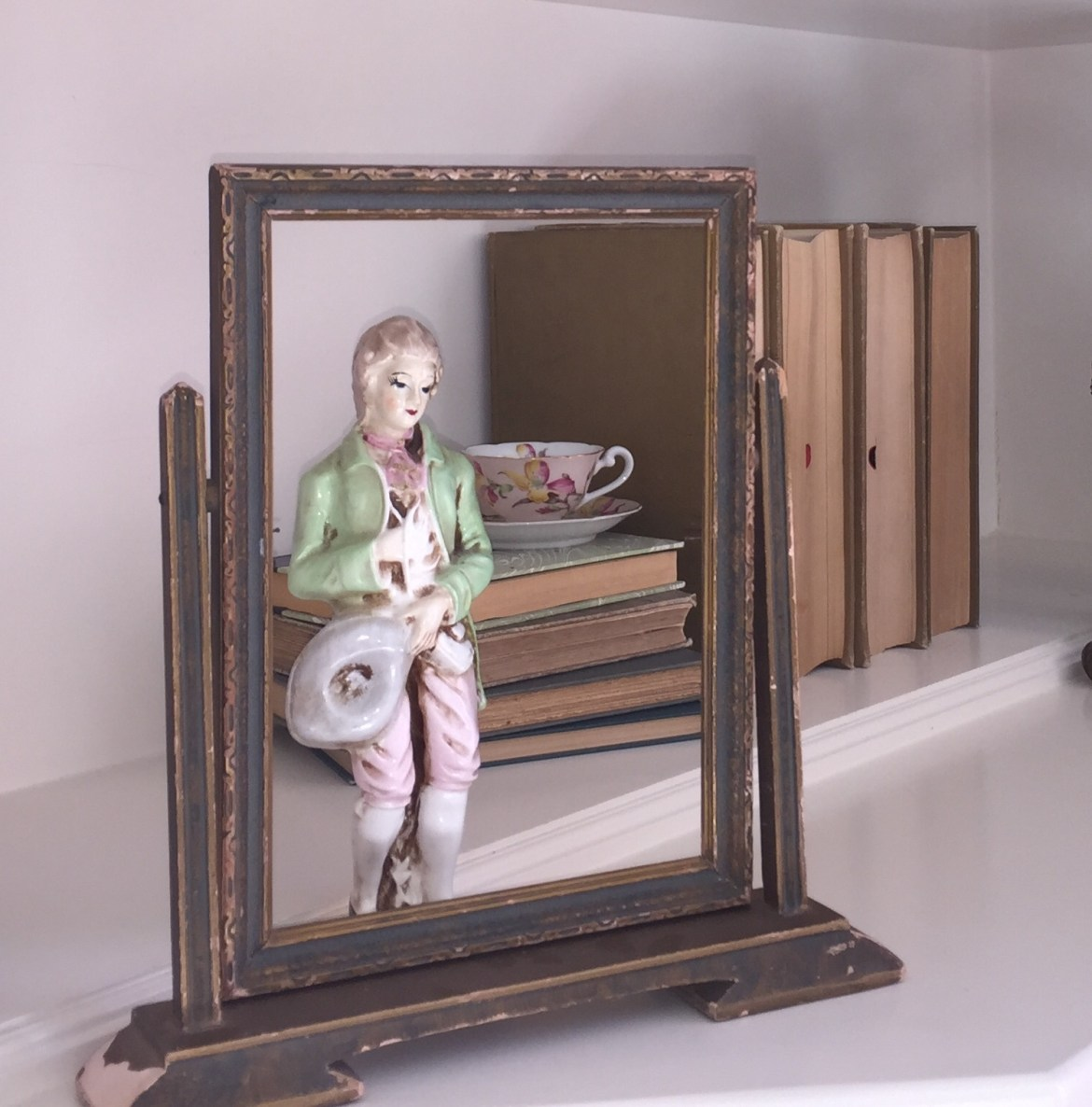 Bookcase - Vintage French Statue