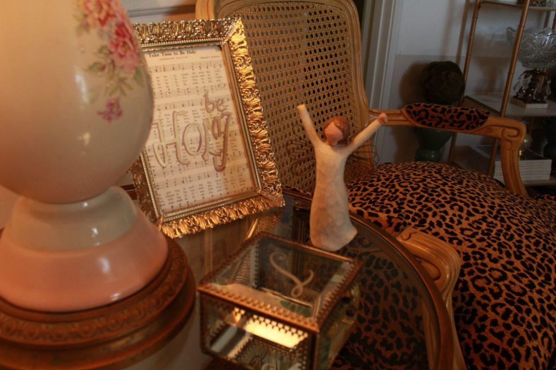 Vintage Home Decor and Cheetah Chair