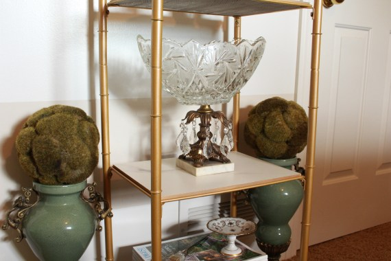 Gold and Marble Shelf Unit