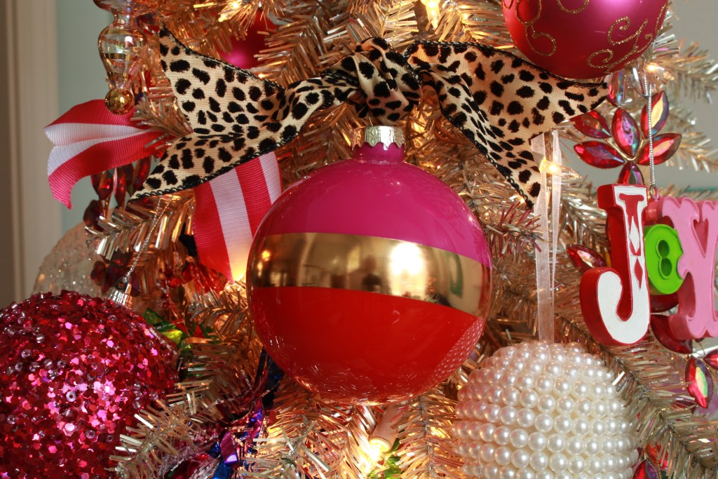 Add a touch of animal print for a chinoiserie chic Christmas theme